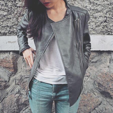 首爾 Seoul 서울 Picturing Individuality Leather Jacket Winteriscoming Red Lips Street Fashion