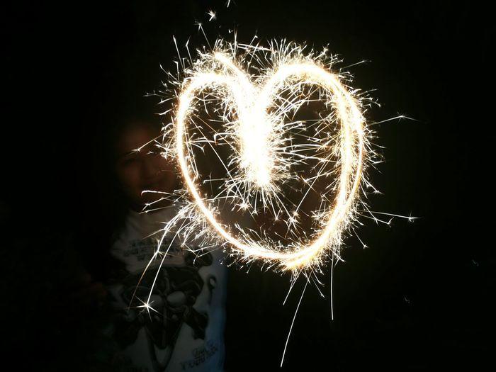 Close-up of firework display