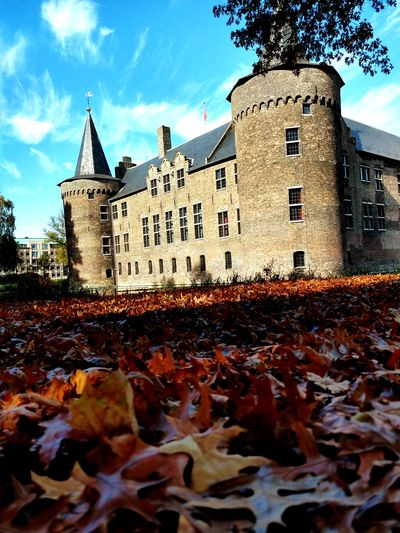 Helmond castle Leaf Autumn Sky Architecture Building Exterior Built Structure Cloud - Sky Leaves Castle