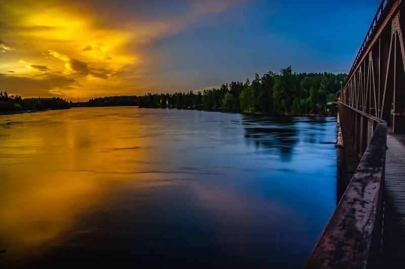 Sunset night!!! Sky Water Tree Cloud - Sky Scenics - Nature Plant Beauty In Nature Nature Reflection Tranquil Scene Tranquility Sunset No People Waterfront Blue Architecture Outdoors