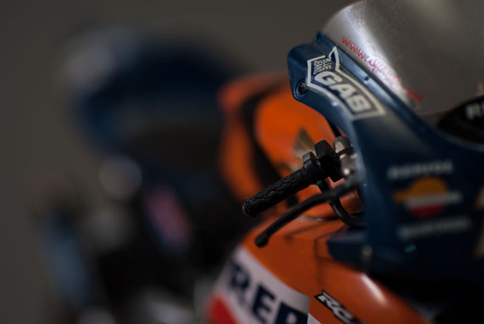 Bike Close-up Focus On Foreground Gas Indoors  Model Kit Motogp No People Repsol