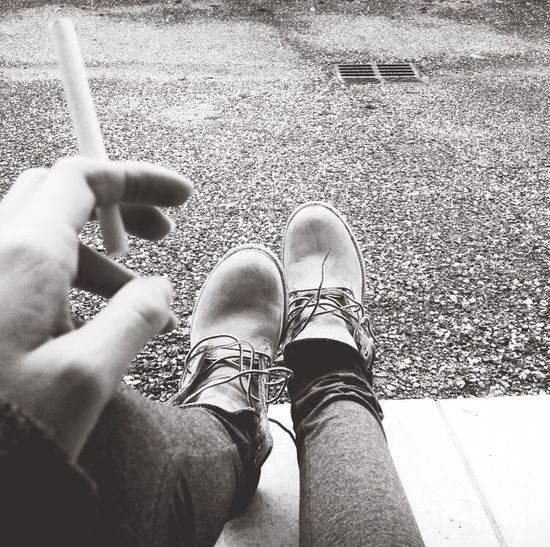Smoking cold Smoking Cigarette  Girl Timberland Dreaming Cold From My Doorstep Alone Time Day Dreaming Thoughts