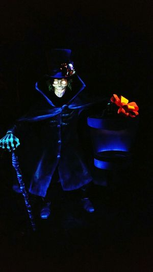 Our Doom Buggy stopped right in front of the Hat Box Ghost ! Photo credit: Jim Noble. Not bad for a cell phone!