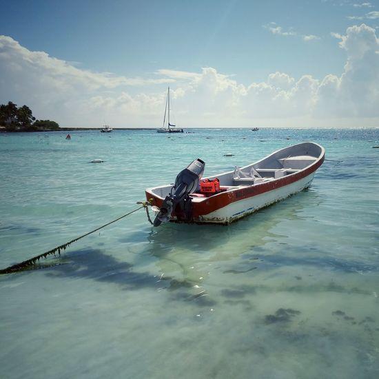 Akumal Akumal Riviera Maya Water Sea Oar UnderSea Sailing Sky Cloud - Sky Fishing Boat