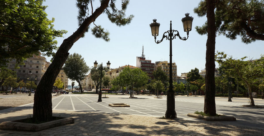 Tree City Outdoors Street Light Architecture Day Statue No People Sky Politics And Government Wall Travel Destinations Thessaloniki Salonika Greece Architecture ARISTOTELOUS SQUARE THESSALONIKH Aristotelous Square Park Square