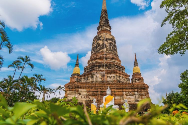 Pagoda Religion Architecture Business Finance And Industry Travel Destinations Outdoors No People Day Sky พระพุทธรูป อยุธยา Backgrounds Wallpaper Background