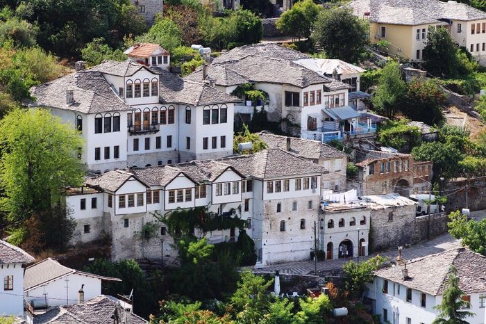 Architecture House Building Exterior Tree High Angle View Residential Building Outdoors City Built Structure Day Cityscape No People Turkishstyle Albania Albanian Naturelovers 👐 Gjirokaster