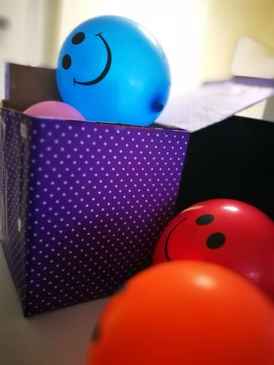 Happy Smiley Fun Blue Balloon Colorful Balloons Blue Ballon Orange Ballon Red Balloon