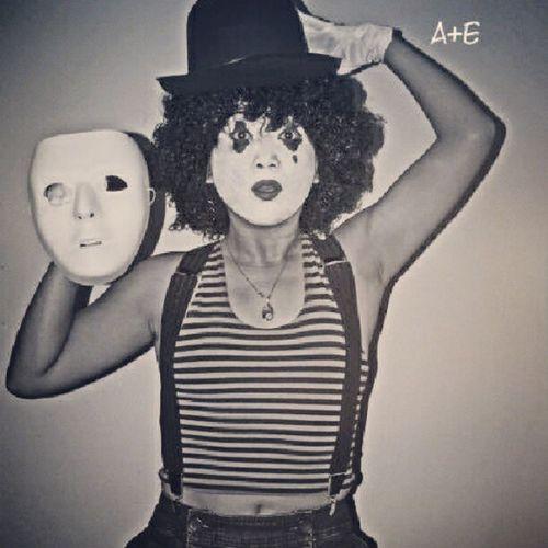 Round 2..me as Charliechaplin Halloween Mime Mask halloweenparty halloweenmakeup halloweenideas