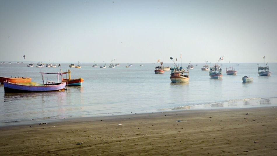 Sea And Sky Sea View Boats⛵️ Boats And Water Small Boats Incredible India India Sea Side Seascape Seaside
