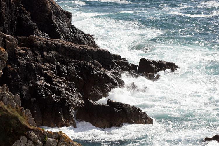 Rough sea on