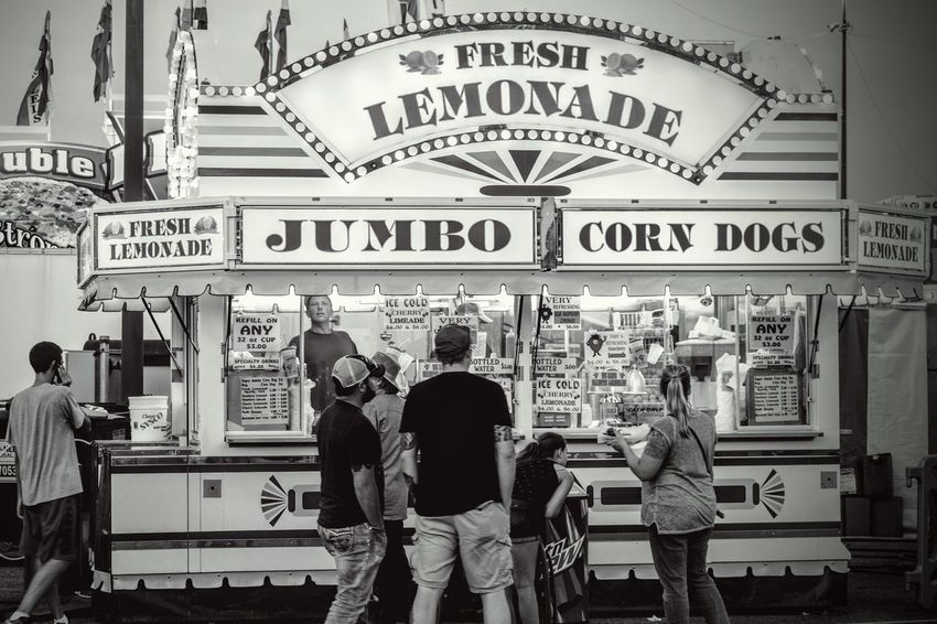 Nebraska State Fair August 2016 Grand Island Nebraska America Americans Blackandwhite Camera Work Carnival Food Casual Cultures Customer  Eye For Photography EyeEm Best Shots EyeEm Gallery Fairground FUJIFILM X-T1 Lemonade Lifestyles Nebraska Outdoors People Photo Essay Photojournalism Retail Display Selects Small Town Stories Standing State Fair