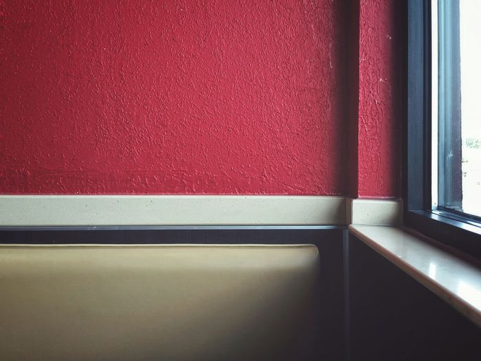 Indoors  Window No People Day Close-up Color Block Color Blockıng Red Yellow Architecture Corner Copy Space Decor Retro Style The EyeEm Collection The Premium Collection