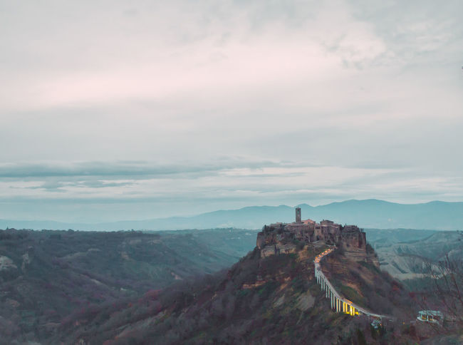 Beauty In Nature Civita Di Bagnoregio Cloud - Sky Day Daydreaming Fort Idyllic Scenery Landscape Mistery Mountain Nature No People Outdoors Sky Travel Destinations