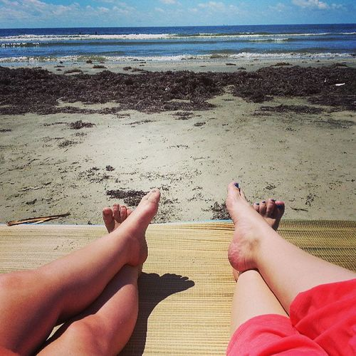 Cuz we can. ImpromptuGirlTimeAtTheBeach with my Punky Galveston Summertime GulfCoastLife