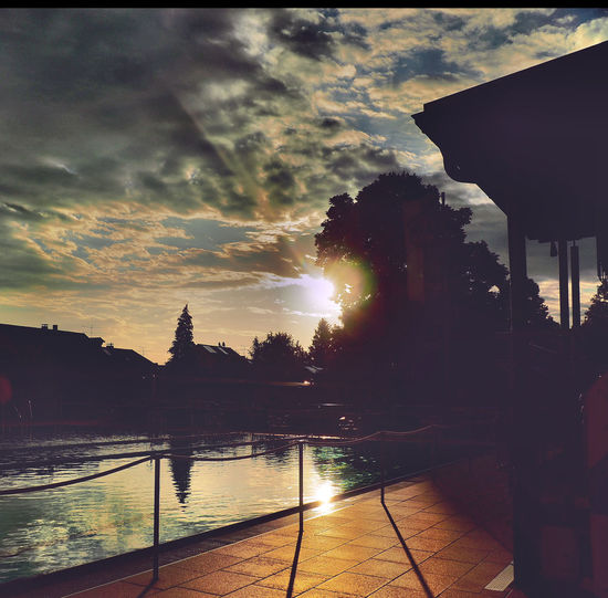 Beauty In Nature Canal Cloud Cloud - Sky Cloudy Eye4photography  EyeEm Gallery Idyllic Lens Flare Nature No People Outdoors Reflection Scenics Sky Sun Sunbeam Sunlight Sunset Tranquil Scene Tranquility Water