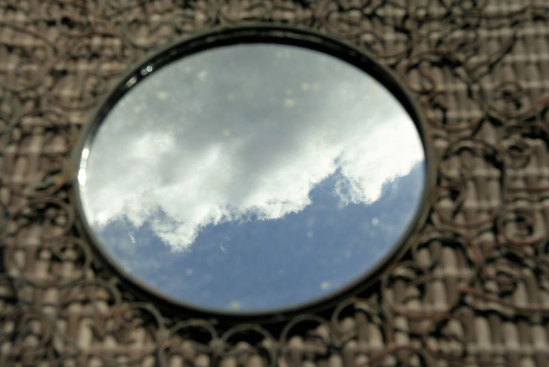 Beauty In Nature Circle Close-up Cloud Cloud - Sky Cloudy Day Focus On Foreground Geometric Shape Mirriorshot Mirror Nature No People Overcast Reflection Scenics Selective Focus Showcase April Sky Tranquil Scene Tranquility Weather