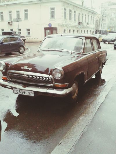 Moscow Old Transport Old Car Made In USSR
