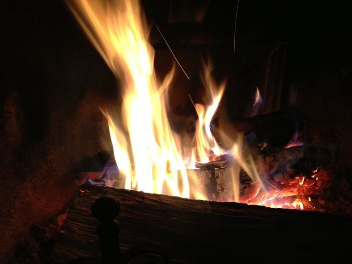 The Flame Fire - Natural Phenomenon Flame Burning Heat - Temperature Wood - Material Fire Pit