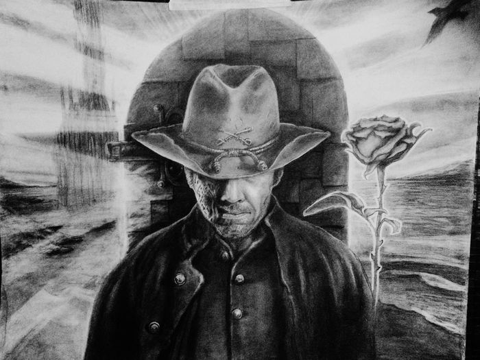 Stephen King Drawing The Dark Tower Pencil Drawing Josh Brolin Jonah Hex Gunslinger