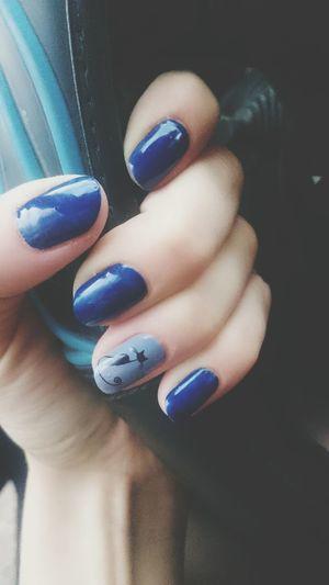 Nail Art Blue Fashion Human Body Part Human Hand Nail Polish Fingernail Beauty Close-up One Person People Adult Adults Only Nailart  Nailpolish Nails <3 Naildesign Fashion
