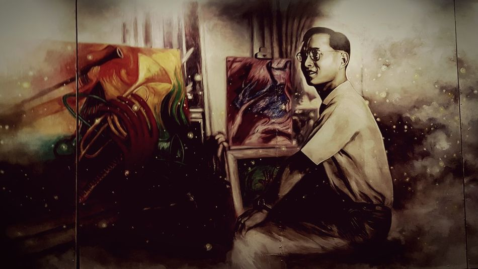 The King of the world art King Thailand Bhumibol Longlivetheking World Art Silpakorn University