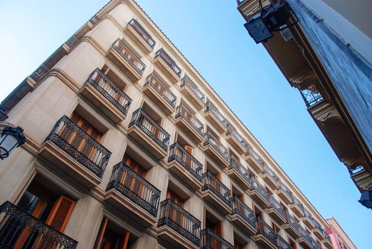 Alicante architecture Building Urban Balconies Low Angle View Spanish SPAIN Alicante Low Angle View Building Exterior Architecture Built Structure Sky Building City Clear Sky No People Day Outdoors Tall - High Window
