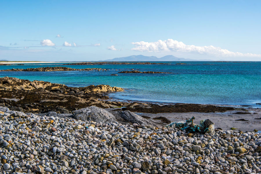 Beach Beauty In Nature Blue Day Horizon Over Water Isle Of North Uist Nature No People Outdoors Outer Hebrides Scenics Scotland Sea Sky Travel Destinations Water Western Isles