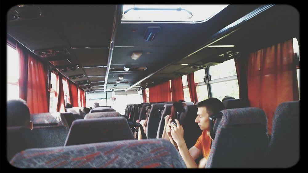 On the way to Balaton Enjoying Life Class Trip Camp Bus