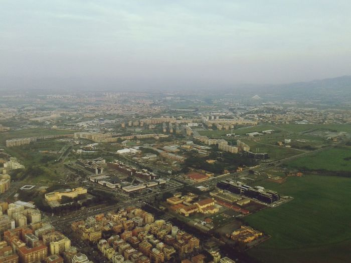 On A Plane Rome Italy