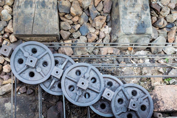 Day Metal No People Old Railway Station Railway Station Scene Railway Stations Wheel