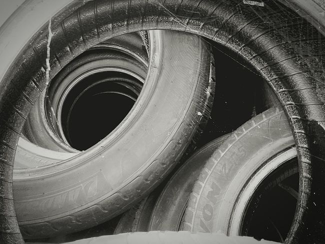 Shades Of Grey Circles Tyres Blackandwhite Rubber Stacked Tunnels Downtherabbithole Vehicals Cars