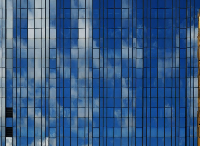 Architecture Backgrounds Blue Building Building Exterior Built Structure City Design Full Frame Glass - Material Modern Office Building Pattern Reflection Repetition