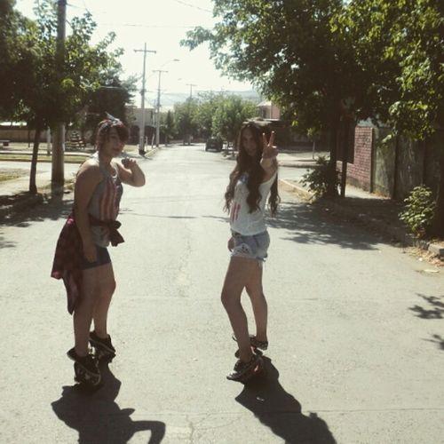 Skateboarding Skater Girl Skate Long Hair Outfit Ootd Legs Hipster Summer Sun