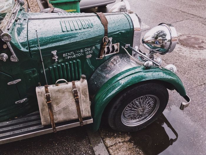 Golden Era of automobiles ... Luxury Hobby Street Automobile Auto City Vehicle Antique Rainy Days Asphalt Vintage Chrome Retro Day Transportation No People High Angle View Mode Of Transportation Sunlight Nature Land Vehicle Green Color Still Life Old Wheel Car Motor Vehicle Stationary Street Side View