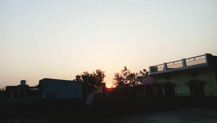 Beautiful sunset from slum area