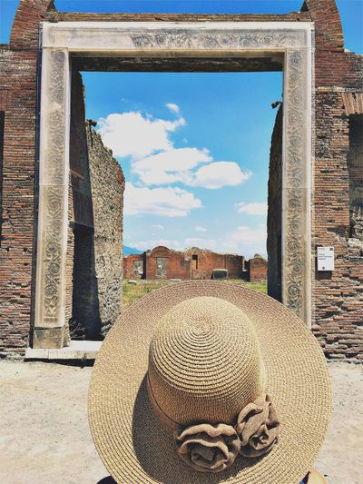 Hat Built Structure Architecture Day History No People Outdoors Sky Building Exterior Close-up Pompeii  Ruins Pompeii Ruins Popckorn