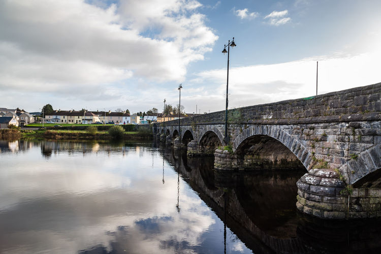 Bridge over river i n Wild Atlantic Way of Ireland Ireland Wild Atlantic Way Arch Arch Bridge Architecture Bridge Bridge - Man Made Structure Building Exterior Built Structure Cloud - Sky Connection Day Irish Kerry Nature No People Outdoors Reflection River Sky Sunrise Transportation Travel Destinations Water Waterfront