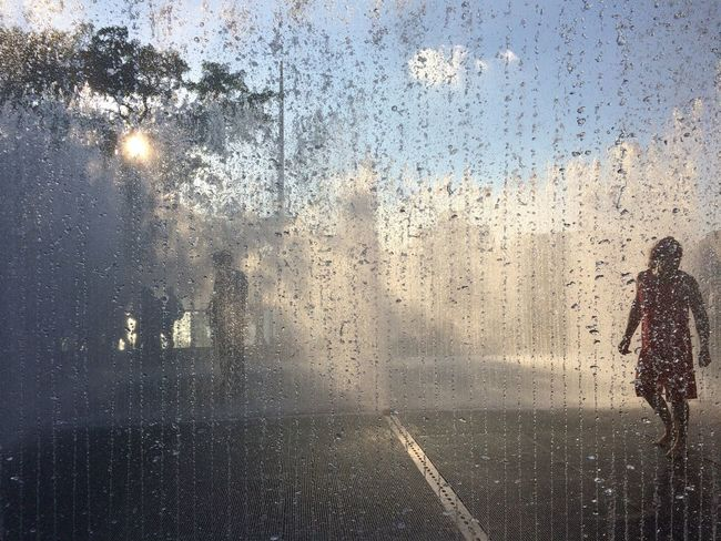Magical spot Waterwall Southbank People Traveling