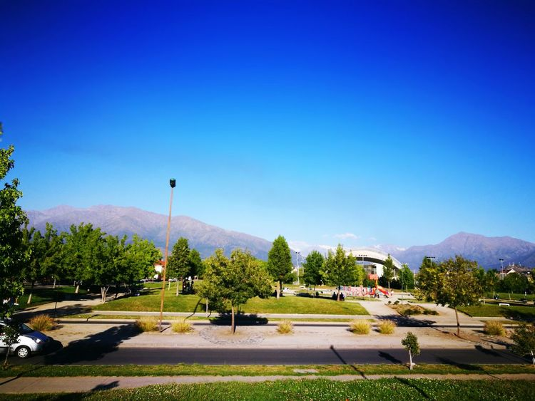 Clear Sky Blue Tree Outdoors Filter S3 Chile♥ Travel In The City Connection Puente Alto Go To Park!
