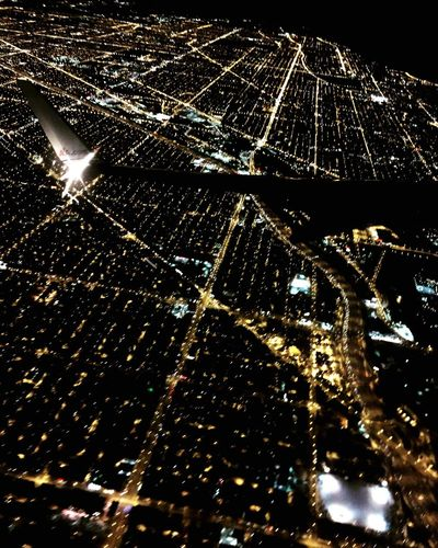From An Airplane Window Chicago Lights