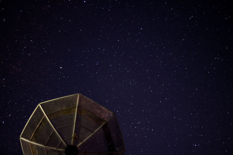 Low angle view of star field at night
