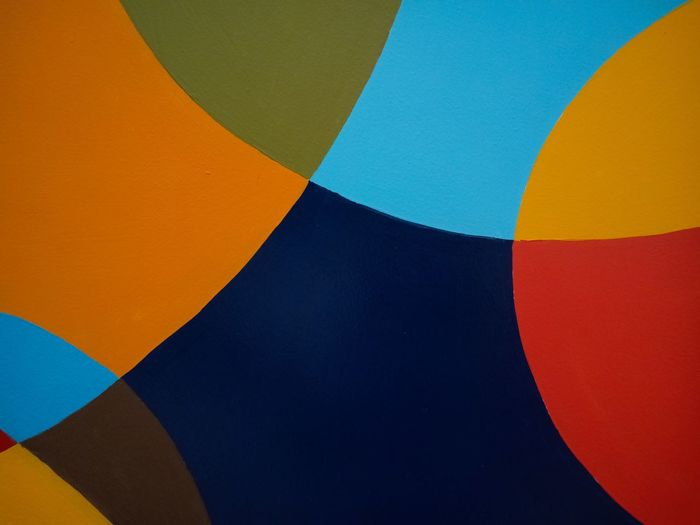 Close-up of multi colored hot air balloon