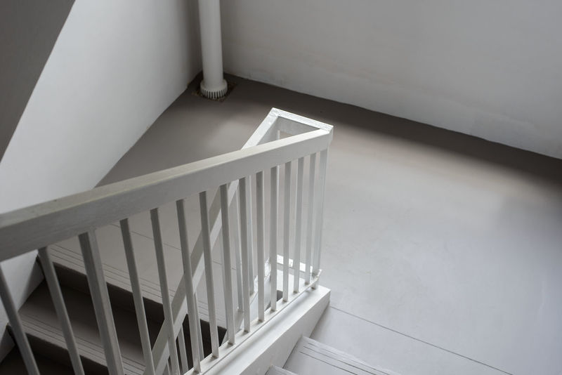 Architecture Close-up Day Going Down Grey Indoors  No People Pipe Railings Staircase Steps And Staircases