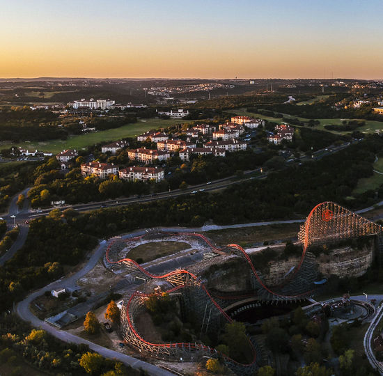 Drone  Rollercoaster Architecture Beauty In Nature Cityscape Day Dronephotography High Angle View Landscape Mountain Nature No People Outdoors Scenics Sky Transportation Travel Destinations
