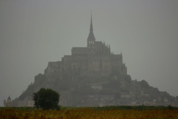Fork Old Town Spuky Le Mont-Saint-Michel In The Ocean Autmn