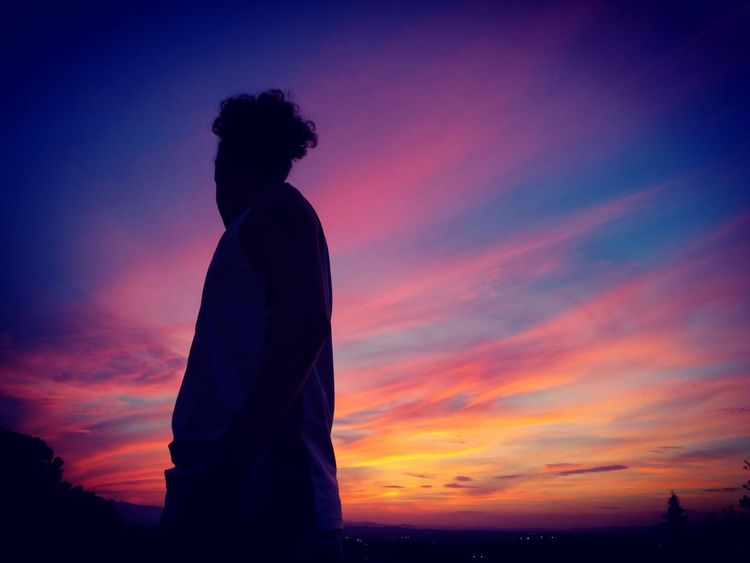 Sunset Silhouette Only Women Adult One Person One Woman Only Dusk Adults Only People Sky Women Outdoors Beauty Lifestyles Night Nature Tranquil Scene Horizon Over Water EyeEmNewHere Cloud - Sky Nature_collection Murciagramers Word_photography Murciagrafias LaFuensanta