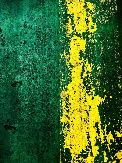 Marked Structures Texture Structure Yellow Full Frame No People Day Backgrounds High Angle View Plant Green Color Outdoors Close-up Pattern Textured  Built Structure Architecture Creativity Road Transportation Sign