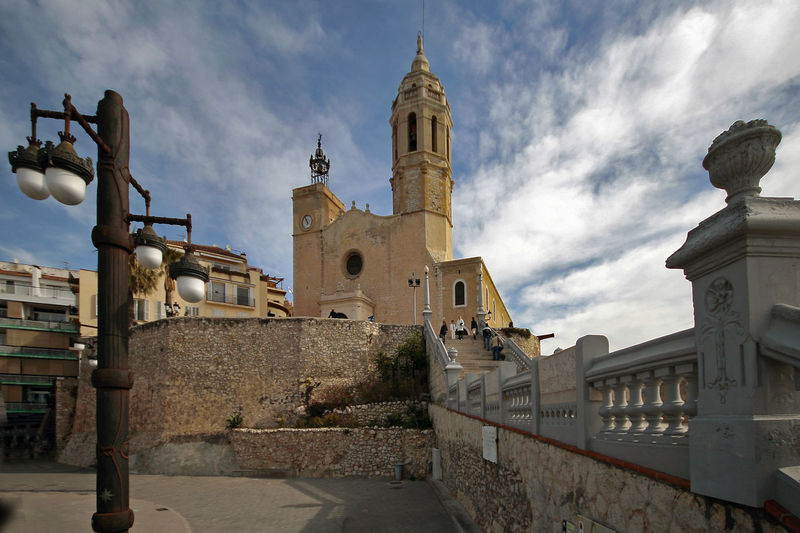 Architecture Building Exterior Built Structure City Cloud - Sky Day No People Outdoors Place Of Worship Religion Sitges Barcelona España Sky Spirituality Travel Destinations