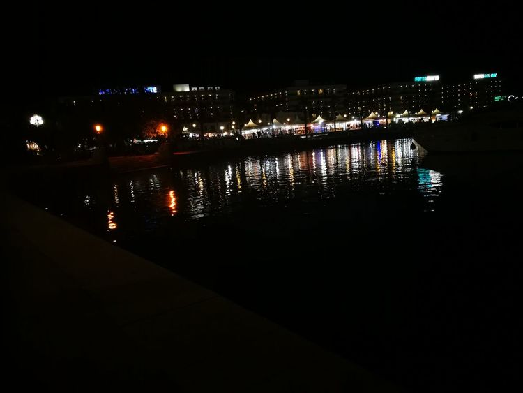 Reflections Night Illuminated Reflection City Nightlife No People Outdoors Water Sky Cityscape